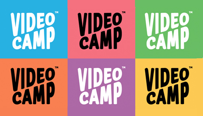 Logo do Videocamp em diversas cores (azul, rosa, verde, laranja, roxo e amarelo)