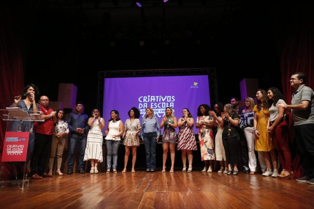 Homenagem aos educadores no Desafio Criativos da Escola 2018. Foto: Marina Cavalcante.