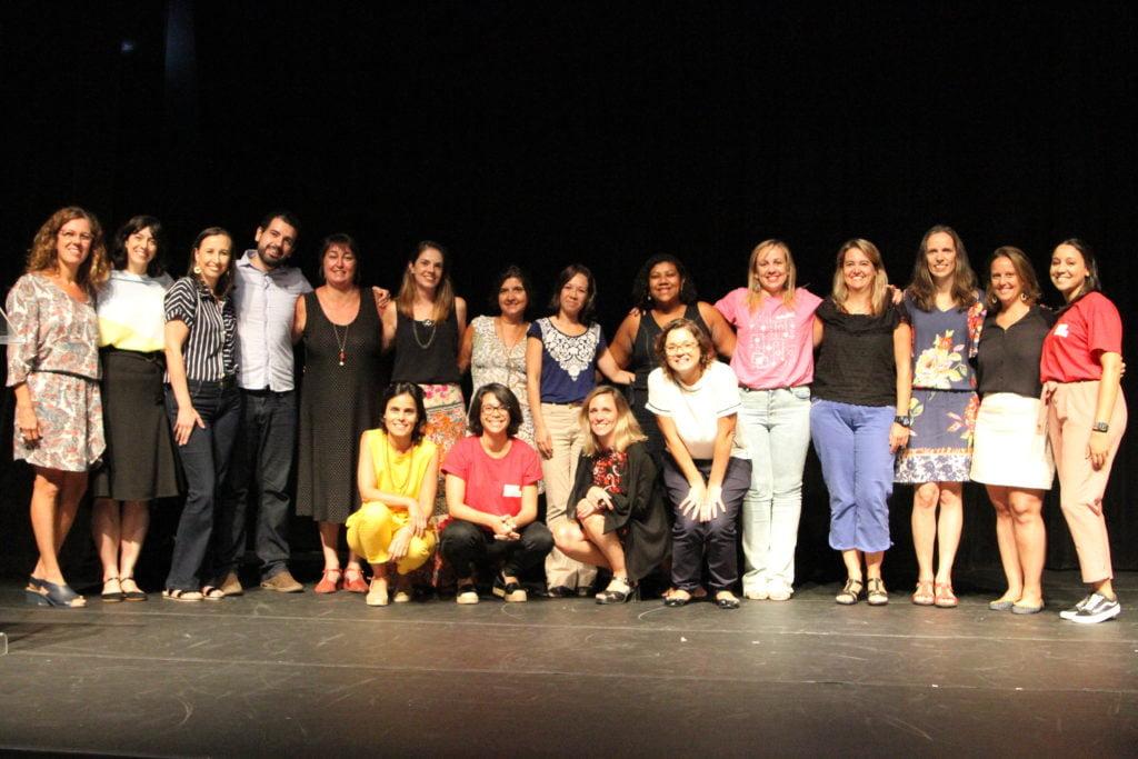 Equipe de professores, da Nova Escola e do Alana, no evento