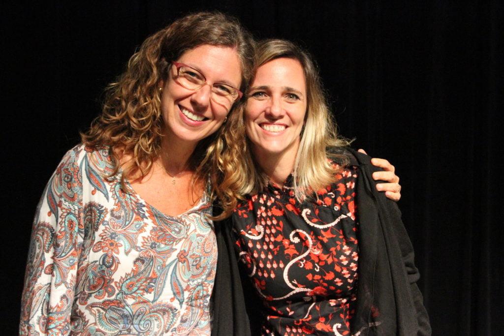 Erika Pisaneschi e Beatriz Ferraz no evento